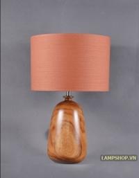Đèn ngủ chân bình sứ chao cam